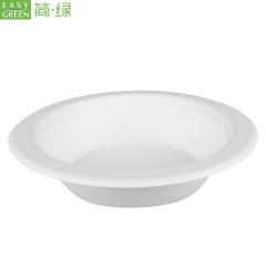 16oz Biodegradable Paper Bamboo Pulp Bowl For Soup Or Noodles