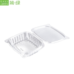 Fruit Box PET Plastic Packaging Clamshell For Fruit Salad
