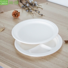 Compostable Biodegradable Pulp Paper Plates Make For Wthite Pulp