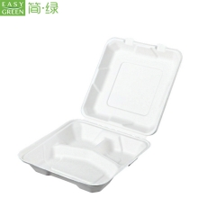 Disposable Cornstarch Clamshell Packaging Box