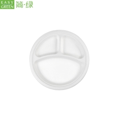"10""-3com Biodegradable Compostable Bamboo Disposable Plates"