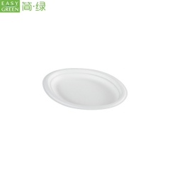 Compostable Sugarcane Oval Dinner Plates Disposable