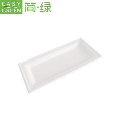 Sugarcane Bagasse Pulp Plate For Eco-Friend Food Packaging