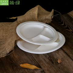 Bamboo Paper Sugarcane Dinner Plates Biodegradable
