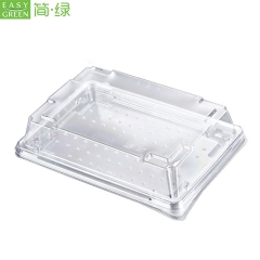 Disposable PET Plastic Disposable Sushi Tray Container Packaging For Sushi Meat