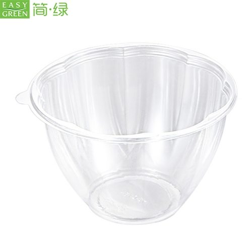 HS-04 Eco friendly Recycle Clear Plastic Salad Bow With Lid