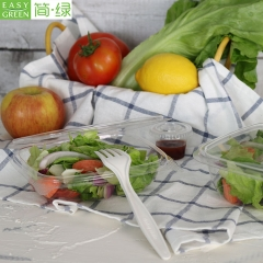 12oz(350ML) Disposable PLA Plastic Fruit Containers For Salad