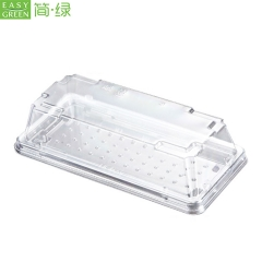 Wholesale Plastic Sushi Box Takeout Container With Lid