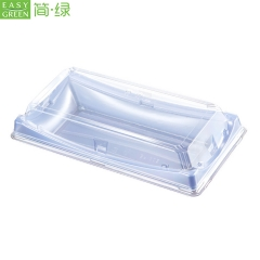 BF-30 Recycle Food Sushi Delivery Container Takeaway Box For Disposable Blue Plastic PS