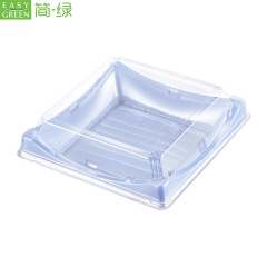 BF-40 Disposable Sushi Plastic Plates Japanese With Lid For Recycle PS