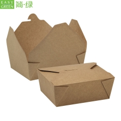 PK-66 Whosale Take Away Custom Packaging Paper Food Boxes Food Grade