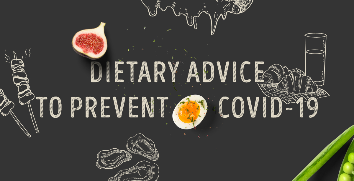 Dietary advice to prevent COVID-19