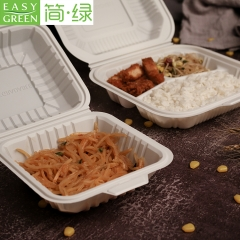 Disposable Eco Friendly Take Out Microwave Safe Cornstarch Food Containers